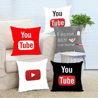 Theme I drink tea eat pizza and watch youtubers Pillow Cover 16x16 18x18 20x20 24x24 inch Two Size Suitbale Pillowcase Cover