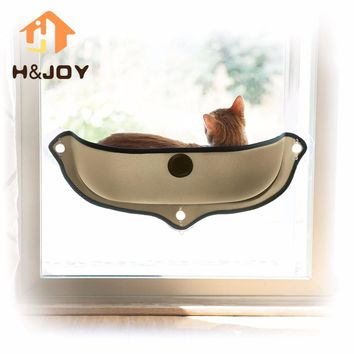 Removable Cat Window Bed Ultimate Sunbathing Cat Window Mounted Cat Hammock Bed Cat Lounger Perch Cushion Hanging Shelf Seat-K1