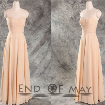 Women's Chiffon Long Bridesmaid Dresses,Long bridesmaid dress,bridesmaid dresses,party dresses,simple bridesmaid dress,cheap bridesmaid dres