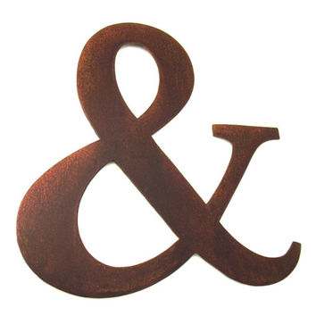 Metal Ampersand Sign Letter - Rusty Rustic Wall Art Sculpture Decor