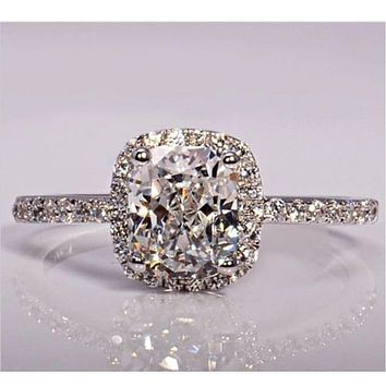 ZN 2019 Trendy Cubic Zirconia Ring Engagement Rings for Women Luxury Wedding Band Love Promise Fashion Jewelry High Quality