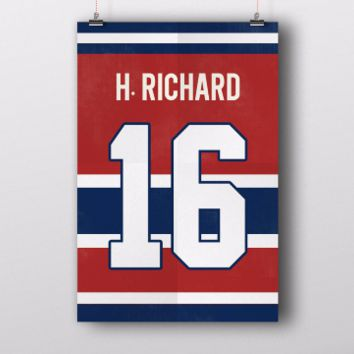 Henri Richard Number 16 Jersey