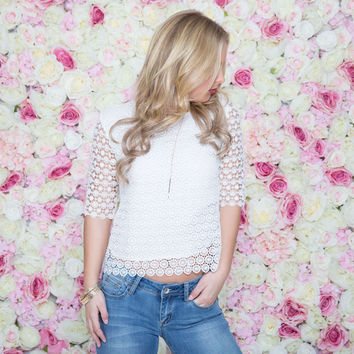 Going In Circles Blouse In White