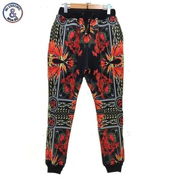 Mr.1991INC Flowers printed men/women 3d sweatpant long harem pant casual trousers emoji joggers P45