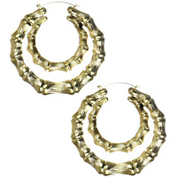 DOUBLE BAMBOO EARRINGS