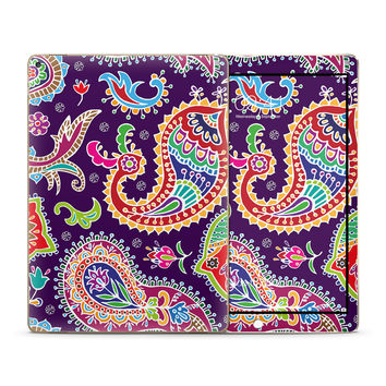 Multicolored Purple Paisley Background Skin for the Apple iPad
