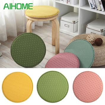 Seat Cushion Personality Round Chair Cushion Office Home Bottom Seats Removable Cushion for Kitchen Dining Furniture