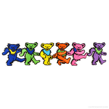 Grateful Dead Large Dancing Bears Patch on Sale for $9.99 at The Hippie Shop