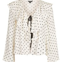 Polka Dot Bed Blouse | Topshop