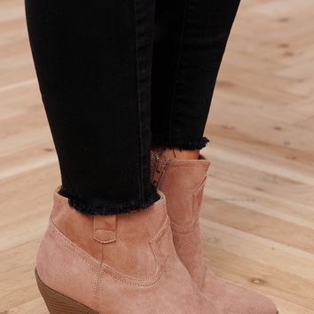 Rebecca Booties (Dark Blush)