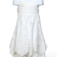 Elegant Eyelet Handkerchief Dress