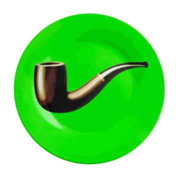 Magritte Green/Pipe Plate - The Afternoon