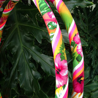 Hula Hoop made from Hawaiian Inspired Fabric