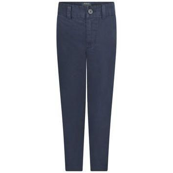 Ralph Lauren Boys Navy Skinny Chino Trousers