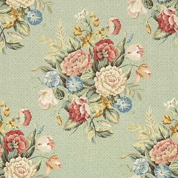 Vervain Fabric 0517801 English Bouquet Mint