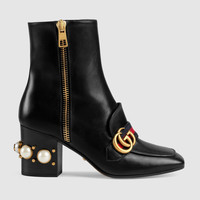 Gucci Leather mid-heel ankle boot