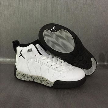 PEAPGE2 Beauty Ticks Jordan Jumpman Pro Aj12.5 White Kids Sneaker Shoe Size Us 11c-3y