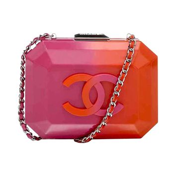 Chanel Pink and Orange Box Bag
