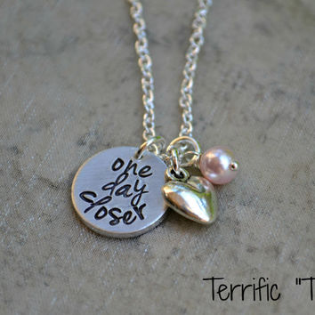 One Day Closer- Personalized Hand Stamped Deployment Necklace