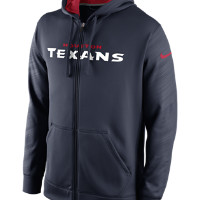 Nike KO Warp Full-Zip (NFL Texans) Men's Training Hoodie Size Small (Blue)