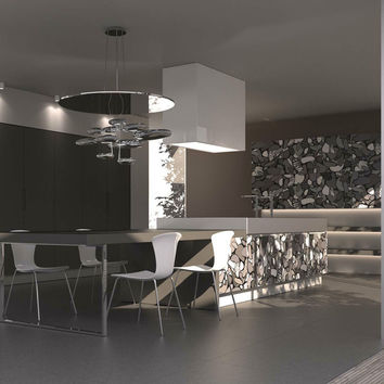 Oak kitchen STONE Enrico Coveri Living Collection by Aster Cucine