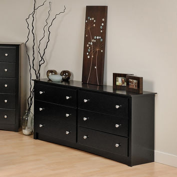 Broadway Black 6-drawer Dresser | Overstock.com