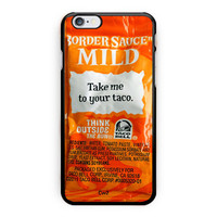 Border Sauce Mild Design Art iPhone 6 Case