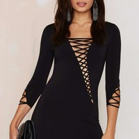 Margaux Lattice Bodycon Dress