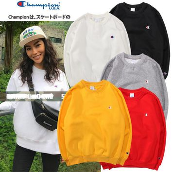 Champion Women Men Fashion Casual Embroider Pullover Long Sleeve Sweater G-2