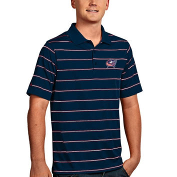Columbus Blue Jackets Antigua Deluxe Polo – Navy Blue