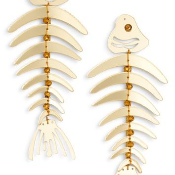 Oscar de la Renta Bold Fish Drop Earrings | Nordstrom