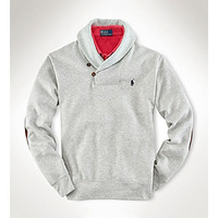 Polo Ralph Lauren® Men's Metro Heather Shawl-Collar Fleece Pullover at www.bonton.com