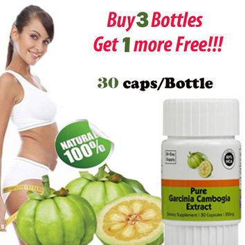Buy 3 get 1 free! (30 DAYS SUPPLY) Pure garcinia cambogia slimming products loss weight diet product for women