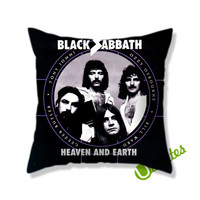 Black Sabbath Heaven and Earth Square Pillow Cover