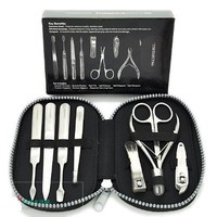 Paul Mitchell Professional Manicure Kit Manicure Set / Pedicure Set - Nail Scissors, Nail Clippers, Cuticle Pusher, Nail File, Tweezers, Nail Cleaner, Nail Toe Clippers, and Cuticle Trimmers.