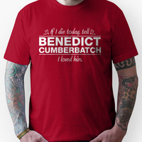 "Benedict Cumberbatch - ""If I Die"" Series (White) Unisex T-Shirt"