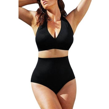 monokini swimsuit high waist sexy bikinis tankini swimwear women 2017 brazilian summer bathing suit plus size XXXL monokini