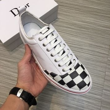 Dior Men White Fashion Casual Sneakers Sport Shoes Size 38-44