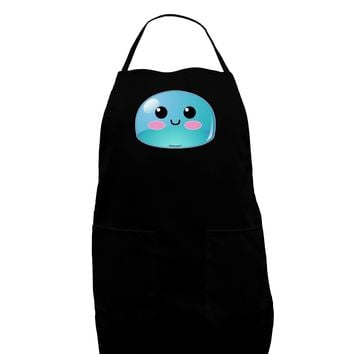 Cute RPG Slime - Blue Dark Adult Apron by TooLoud