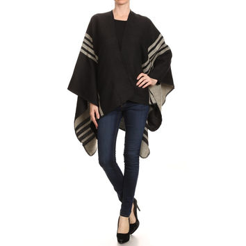 Reversible Striped Poncho (more color options available)