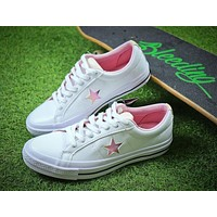 2018 YEAR OF THE DOG Converse One Star White Pink Shoes