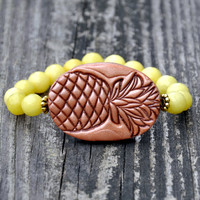 Beaded Pineapple Bracelet