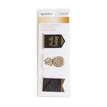 Creative Year Black & Gold Magnetic Bookmarks By Recollections™