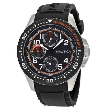 Nautica Multi-Function Black Dial Mens Watch A13685GS