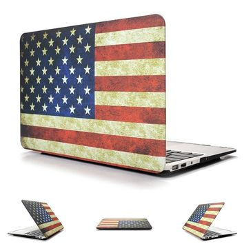 Hard Case Protector With American flag Style For MacBook Air 11 13 inch Pro 13 15 inch Pro retina 13 15 inch
