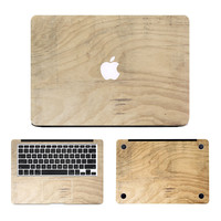 NEW Oak Wood Grain Laptop Decal 3 in1 Set for MacBook Sticker Air/Pro/Retina 11 12 13 15 Dell HP Full Body Protective Cover Skin