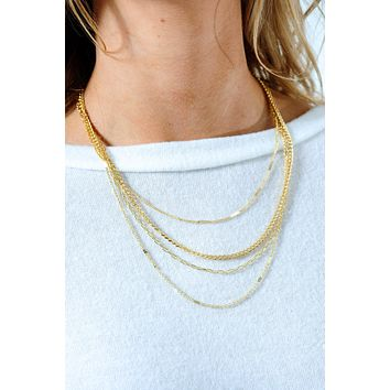 Good Advice Necklace: Gold