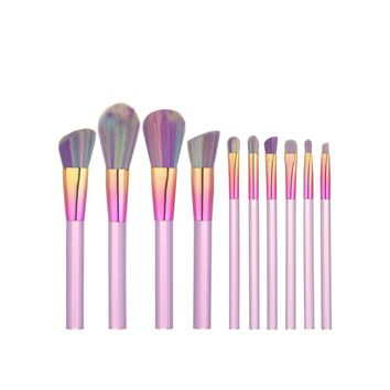 Crystal Makeup Brushes 10 Pcs Professional Makeup Brush Set Synthetic Foundation eyeshadow Brush Midsummer unicorn Brush Set