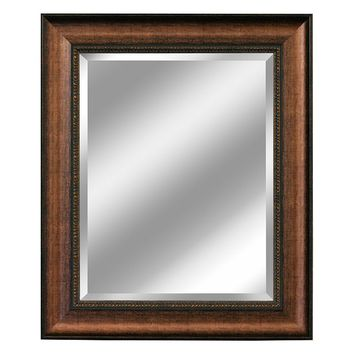 Head West Distressed Beveled Wall Mirror (Brown)
