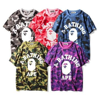 One-nice™ 2017 new camouflage short sleeved men and women loose large size T-shirt [10141570247] I